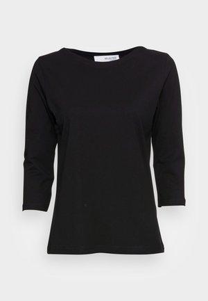 STANDARD BOAT NECK TEE - Long sleeved top - black