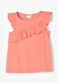 s.Oliver - Print T-shirt - light orange - 0