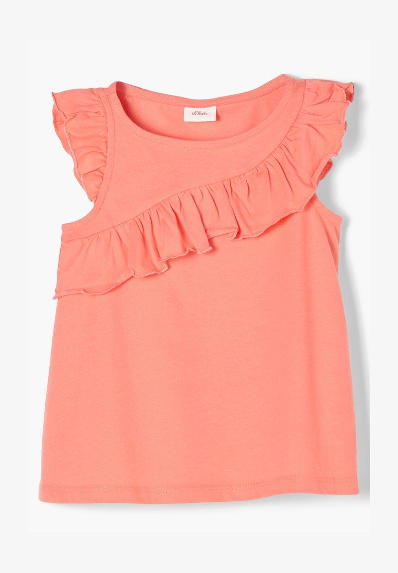 s.Oliver - Print T-shirt - light orange