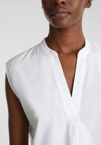 Esprit - BLUSEN-TOP AUS 100% BIO-BAUMWOLLE - Camicetta - white - 6