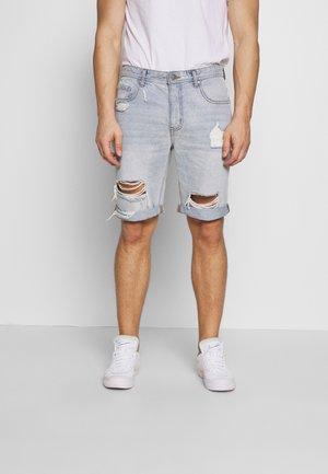 ROLLER - Denim shorts - blue