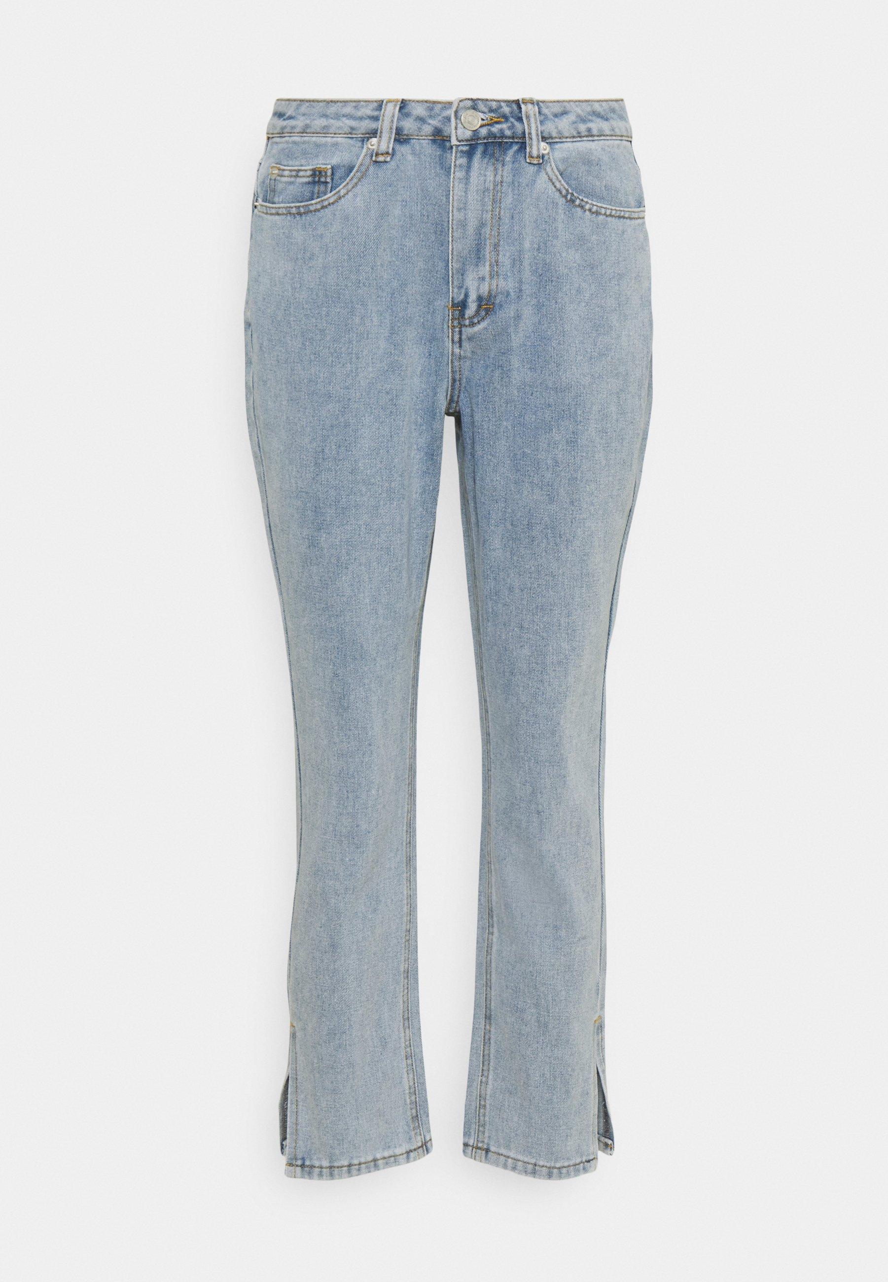 Women SIDE SPLIT HEM MOM - Straight leg jeans