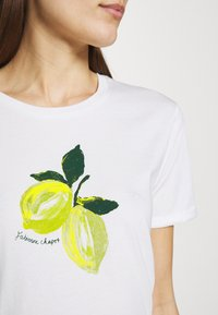 Fabienne Chapot - ROMY LIME - Print T-shirt - cream white - 3