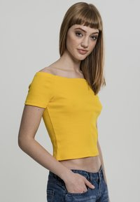 Urban Classics - Print T-shirt - chrome yellow - 4