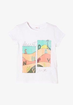 MIT GLITZER - Print T-shirt - white