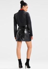 Urban Classics - SHORT JACKET - Denim jacket - black washed - 2