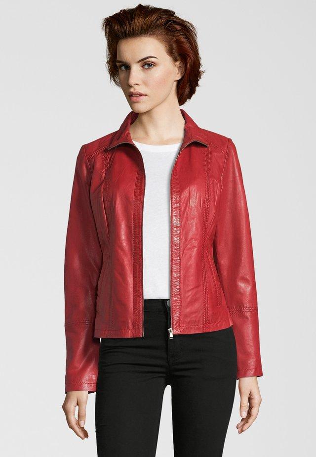 Leren jas - red