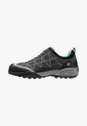 ZEN PRO - Hiking shoes - shark/green blue