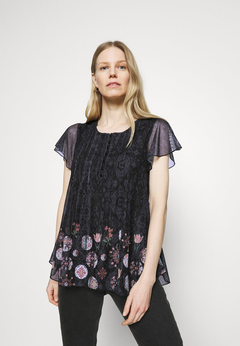 Desigual - NORTE - T-shirts med print - black