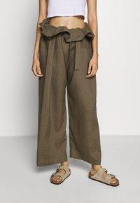 esmé studios - SUSAN FISHERMAN PANTS - Trousers - dusky green - 0