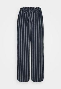 WIDE LEG  - Trousers - navy