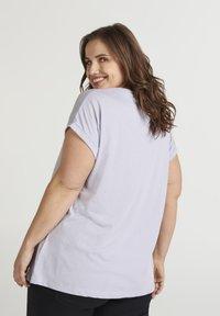 Zizzi - T-shirt basic - light purple - 2