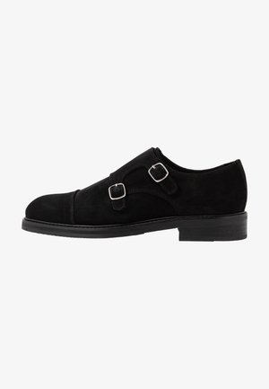 SLHFILIP MONK SHOE  - Slip-ons - black