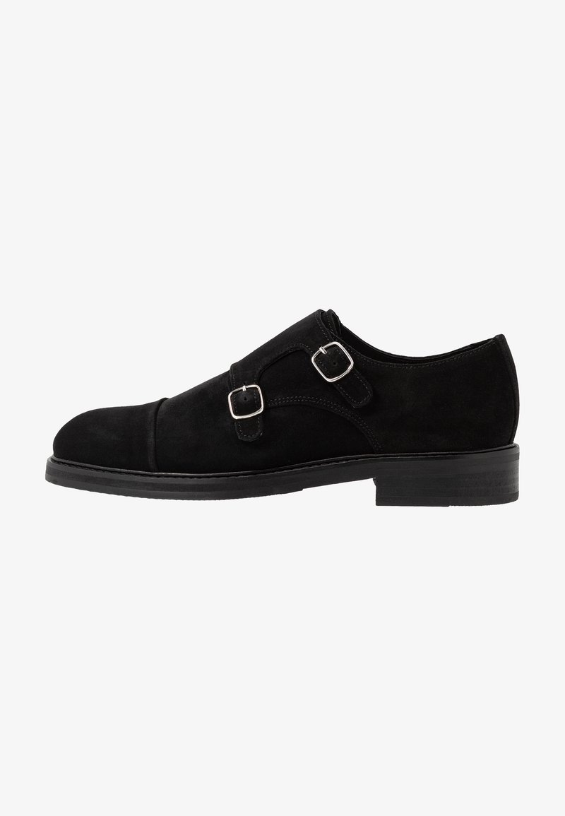 Selected Homme - SLHFILIP MONK SHOE  - Slip-ons - black