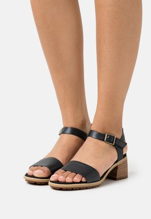 LAGUNA SHORE MID HEEL - Sandals - black