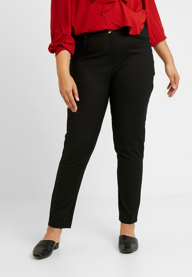 EXCLUSIVE PANT SO CHIC - Trousers - black