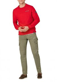Timezone - Cargo trousers - muddy green - 1
