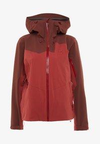 Haglöfs - STIPE JACKET WOMEN - Snowboard jacket - brick red/maroon red - 7