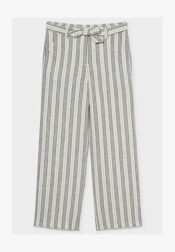 Trousers - white / black