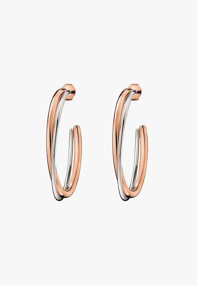 Earrings - rose/bicoloured