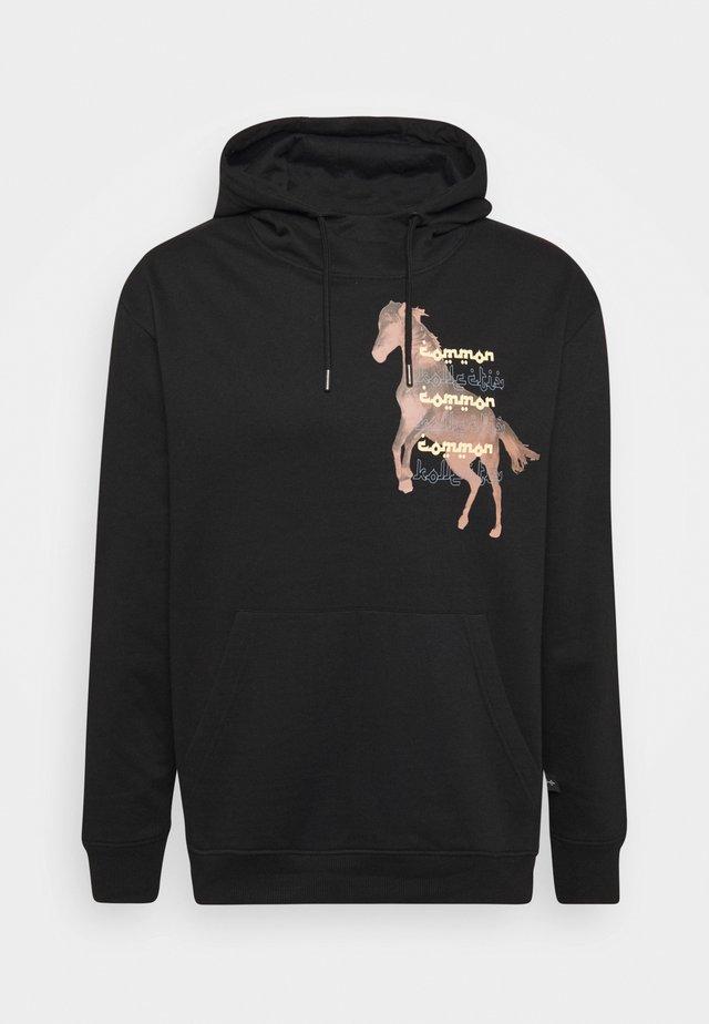 HORSE HOOD UNISEX - Felpa con cappuccio - washed black