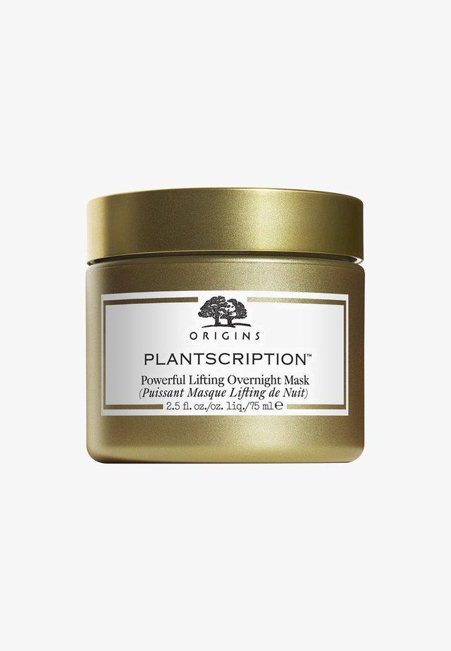 PLANTSCRIPTION POWERFUL LIFTING OVERNIGHT MASK 75ML - Gesichtsmaske - neutral
