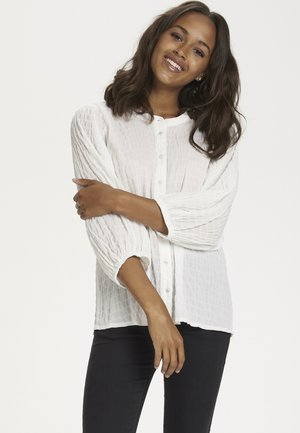 BLOUSE - Long sleeved top - chalk