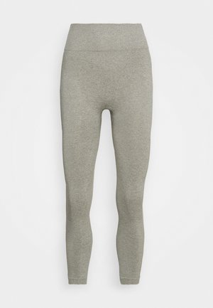 HIGH WAIST CONTRAST SEAMLESS - Tights - grey