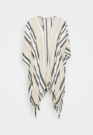 DYE STRIPE MIDI DUSTER - Cardigan - toasted coconut
