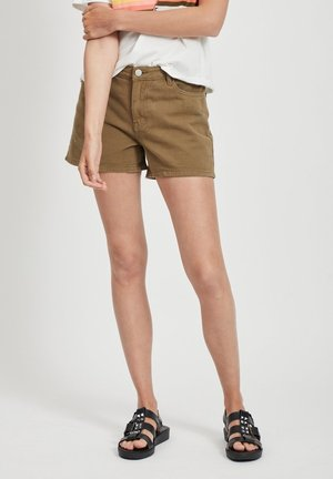 VIANNABEL  - Denim shorts - dark olive