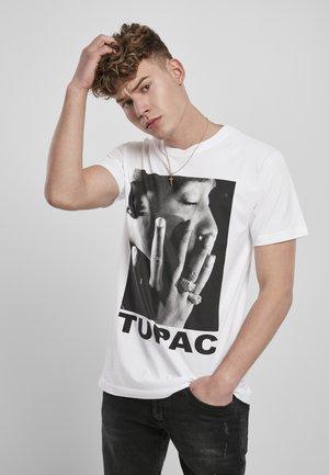 TUPAC PROFILE - T-shirt con stampa - white