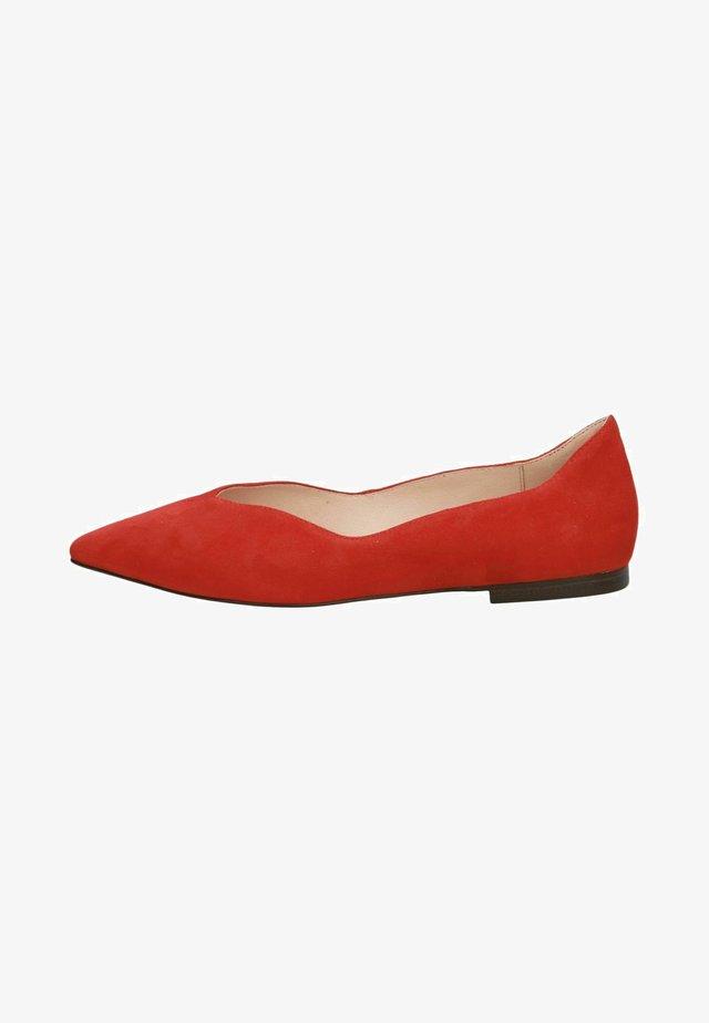 Ballerina's - red suede