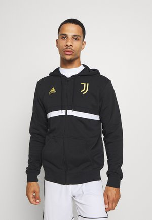 JUVENTUS SPORTS FOOTBALL HOODED JACKET - Club wear - black/white/pyrite