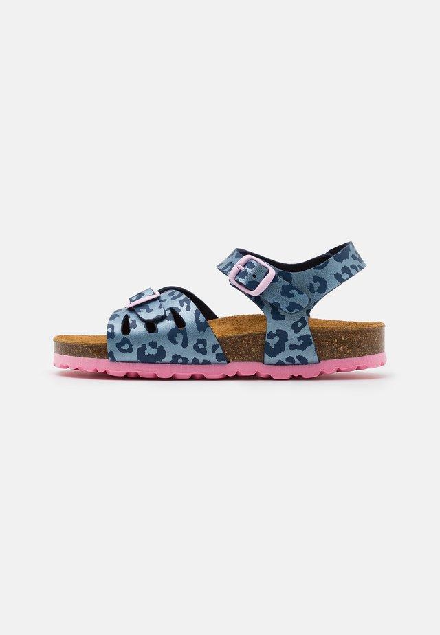 BIOLINE - Sandaler - blau/rosa
