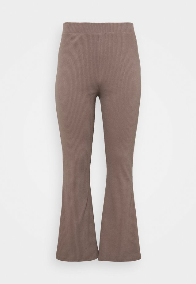 FLARE TROUSER - Broek - brown