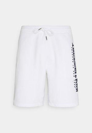 TECH LOGO - Pantalon de survêtement - white
