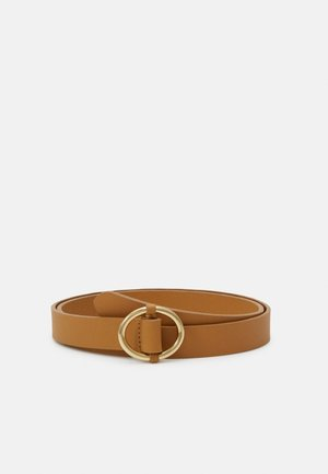 LEATHER - Belt - mustard yellow