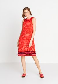 Ivko - ANIMAL PATTERN - Day dress - red - 1