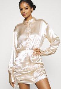 Gina Tricot - SIDNEY SHIRT DRESS - Cocktail dress / Party dress - sandshell - 3