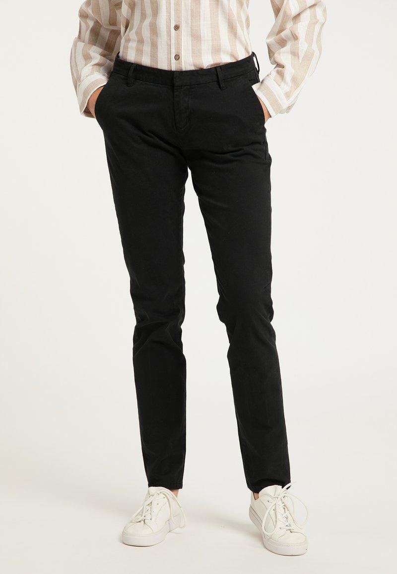 DreiMaster - Pantaloni - schwarz