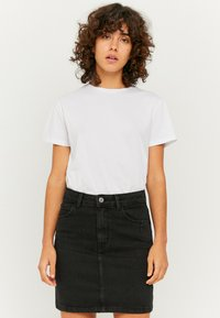 TALLY WEiJL - Denim skirt - black denim - 3