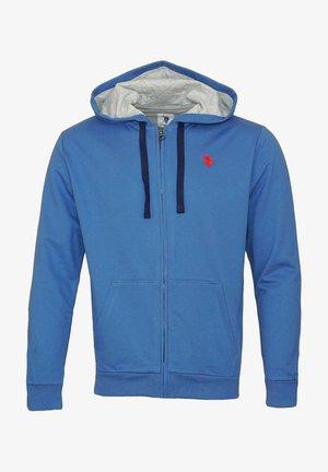 Sweat à capuche zippé - blau