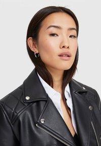 Stradivarius - Faux leather jacket - black - 3