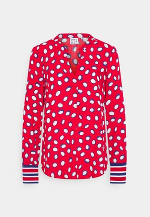 Long sleeved top - red/white