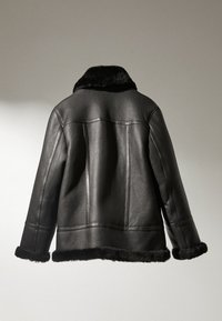 Massimo Dutti - Leather jacket - black - 2