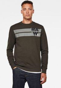 G-Star - LOGO BLOCKED ROUND LONG SLEEVE - Sweater - asfalt - 0
