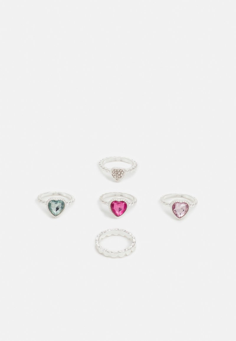 Pieces - PCPRINZZA 5 PACK - Ring - silver-coloured/multi