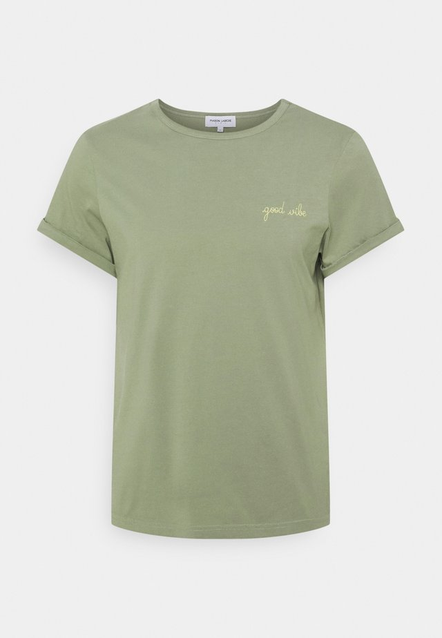 CLASSIC TEE GOOD VIBE - T-shirts med print - olive green