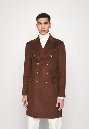 LONG PEA COAT - Klasyczny płaszcz - brown