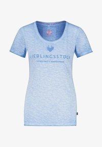 Lieblingsstück - Print T-shirt - aqua 53 - 0